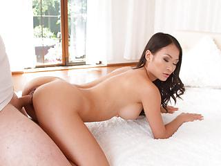 Asian Pornstar in a Virtual POV Fuck in Your Bed