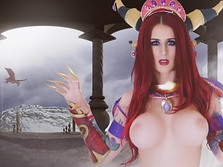 Fucking in a Virtual Video Game with a Busty Slut