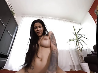 Sexy Sandra sucking and fucking