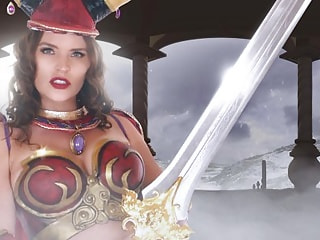 Big Tits Costume Beauty in a Video Game Fucks You