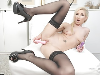 Vanessa Hell enjoys her new dildo
