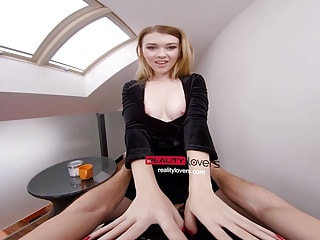 Fingered Teen is Happy to get Fucked Cowgirl Style