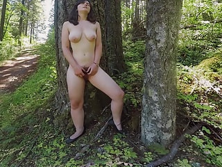 Her pussy scared off all of the small animals in this forest