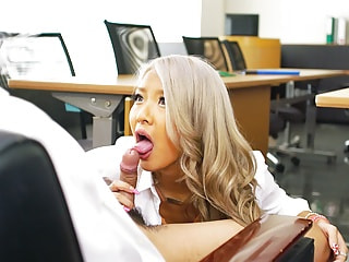 Hot Asian office babe needs you to demolish her filing cabinet