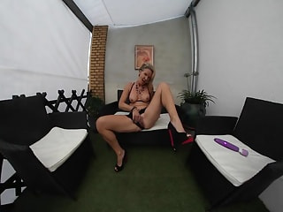 Naughty German MILF Masturbating Her Slick Cunt