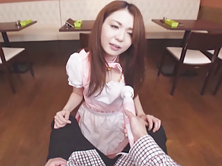 Horny Japanese Waitress Agrees to Suck Your Cock