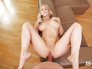 Hot blonde with perfect milk gallons likes being drilled with your huge jackhammer