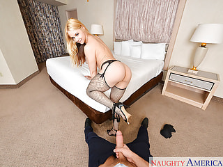 Sexy Fishnets on Your Hardcore Blonde Pornstar
