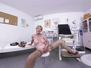 Mili is a very naughty blonde granny who waits for her doctor