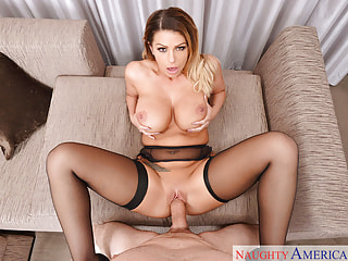 Fuck Pornstar Brooklyn Chase in Black Stockings