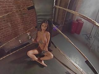 One Tough Knockout - Fit Boxing Girl Striptease