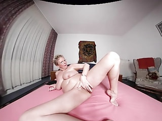 Big Mature Tits and Ass on this Solo Blonde Slut
