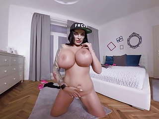 german milf Sandra Sturm shows her massive boobs