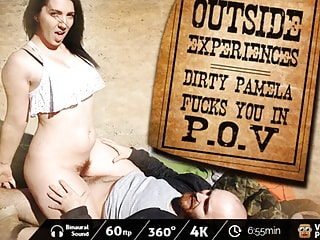 POV Cowgirl Sex in the Desert with a Gorgeous Girl