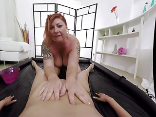 lesbian POV massage