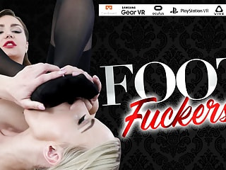 Lesbian in Stockings Spreads Her Pussy Wide Open